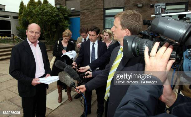 Nick Hulme of the Buckinghamshire Hospital Health Trust speaks outside the Magistrates Court in Amersham Buckinghamshire after hearing the verdict...
