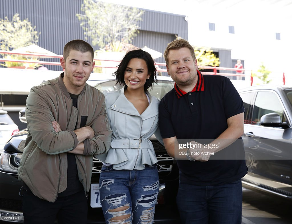 Nick Jonas and Demi Lovato join James Corden for Carpool Karaoke on 'The Late Late Show with James Corden' Thursday May 16th 2016 on The CBS...