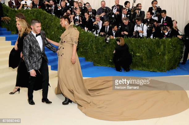 Nick Jonas and Priyanka Chopra attend the 'Rei Kawakubo/Comme des Garcons Art Of The InBetween' Costume Institute Gala at Metropolitan Museum of Art...