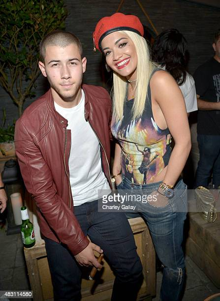 Nick Jonas and Rita Ora attend 'The After Party' presented by Philymack Safehouse Records Island Records and Republic Records on August 5 2015 in...