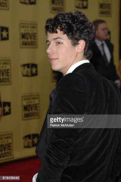 Nick Jonas attends 2010 Critics Choice Awards at The Palladium on January 15 2010 in Hollywood California