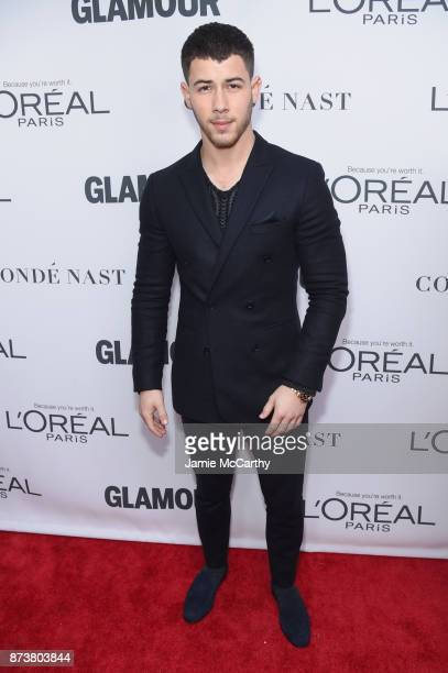Nick Jonas attends Glamour's 2017 Women of The Year Awards at Kings Theatre on November 13 2017 in Brooklyn New York