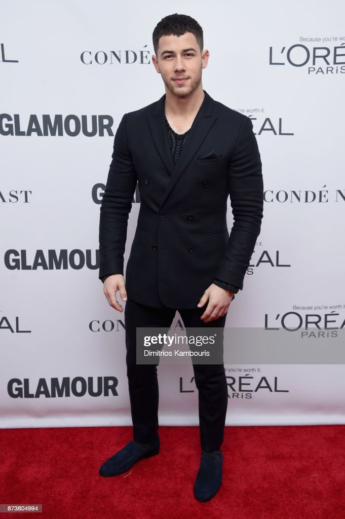 Nick Jonas attends Glamour's 2017 Women of The Year Awards at Kings Theatre on November 13, 2017 in Brooklyn, New York.