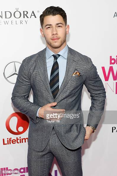 Nick Jonas attends the 2016 Billboard Women in Music Awards at Pier 36 on December 9 2016 in New York City