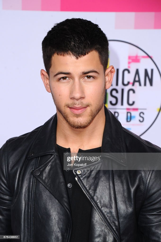 Nick Jonas attends the 2017 American Music Awards at Microsoft Theater on November 19, 2017 in Los Angeles, California.
