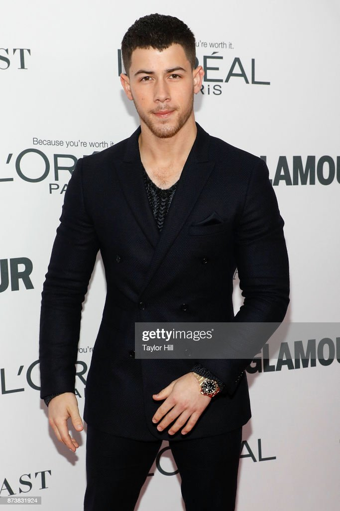 Nick Jonas attends the 2017 Glamour Women Of The Year Awards at Kings Theatre on November 13, 2017 in New York City.