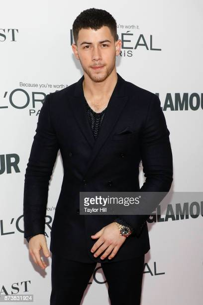 Nick Jonas attends the 2017 Glamour Women Of The Year Awards at Kings Theatre on November 13 2017 in New York City