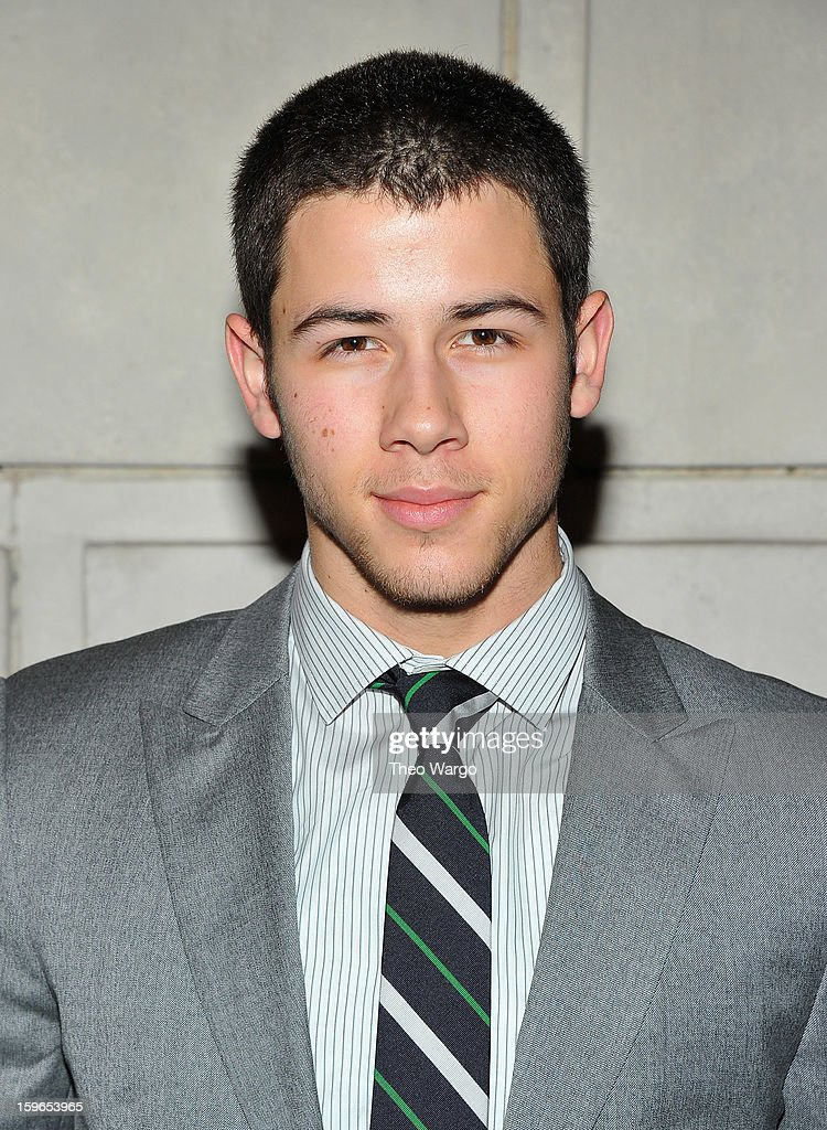 <a gi-track='captionPersonalityLinkClicked' href=/galleries/search?phrase=Nick+Jonas&family=editorial&specificpeople=842713 ng-click='$event.stopPropagation()'>Nick Jonas</a> attends the 'Cat On A Hot Tin Roof' Broadway Opening Night at Richard Rodgers Theatre on January 17, 2013 in New York City.