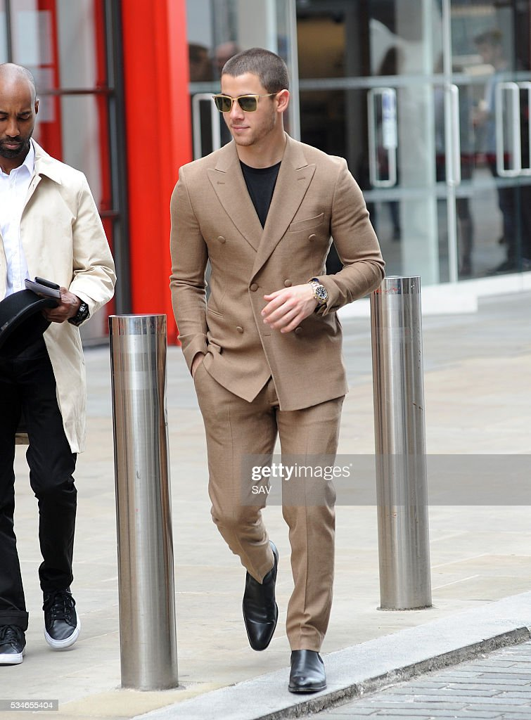 <a gi-track='captionPersonalityLinkClicked' href=/galleries/search?phrase=Nick+Jonas&family=editorial&specificpeople=842713 ng-click='$event.stopPropagation()'>Nick Jonas</a> attends The Globe for the final of the 500 word with Chris Evans on May 27, 2016 in London, England.