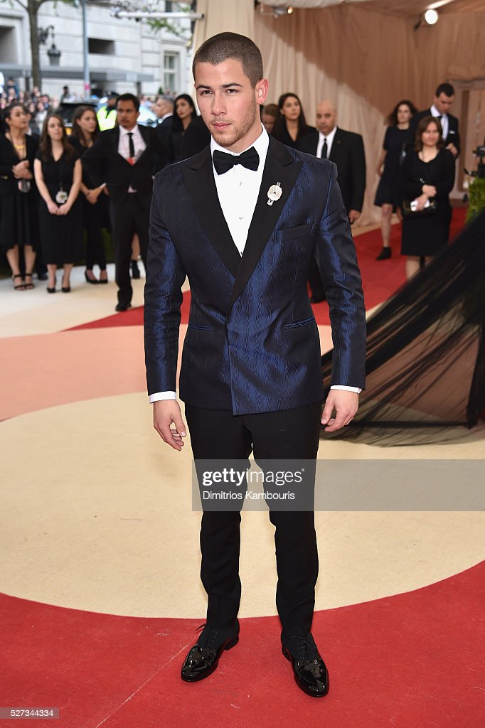 Nick Jonas attends the 'Manus x Machina: Fashion In An Age Of Technology' Costume Institute Gala at Metropolitan Museum of Art on May 2, 2016 in New York City.