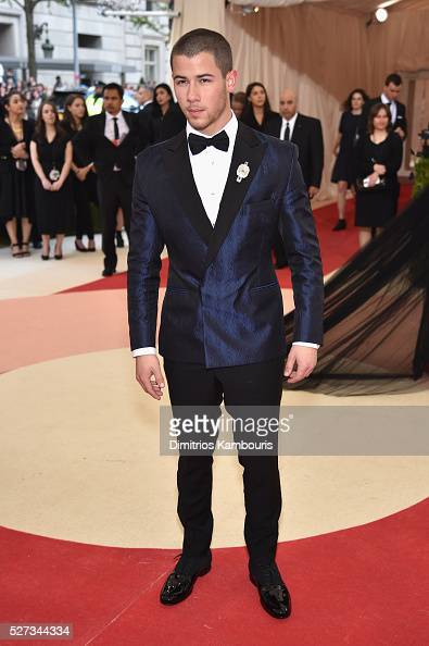 Nick Jonas attends the 'Manus x Machina Fashion In An Age Of Technology' Costume Institute Gala at Metropolitan Museum of Art on May 2 2016 in New...
