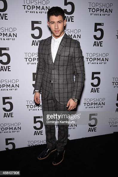 Nick Jonas attends the Topshop Topman New York City flagship opening dinner at Grand Central Terminal on November 4 2014 in New York City