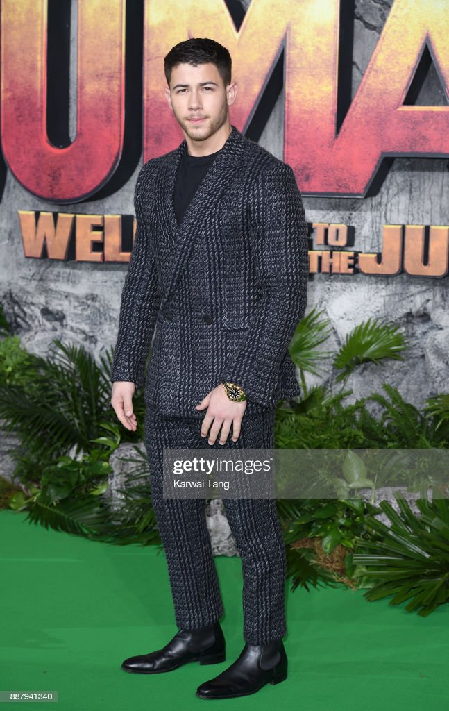 Nick Jonas attends the UK premiere of 'Jumanji: Welcome To The Jungle' at Vue West End on December 7, 2017 in London, England.