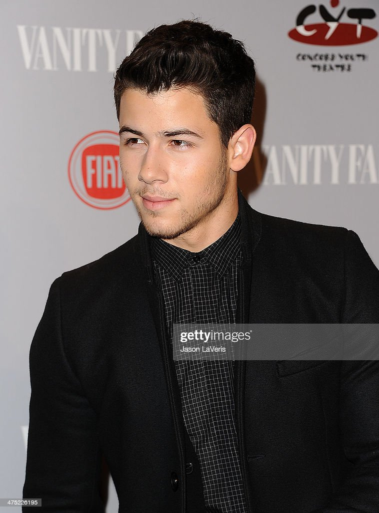 Nick Jonas attends the Vanity Fair Campaign Young Hollywood party at No Vacancy on February 25, 2014 in Los Angeles, California.
