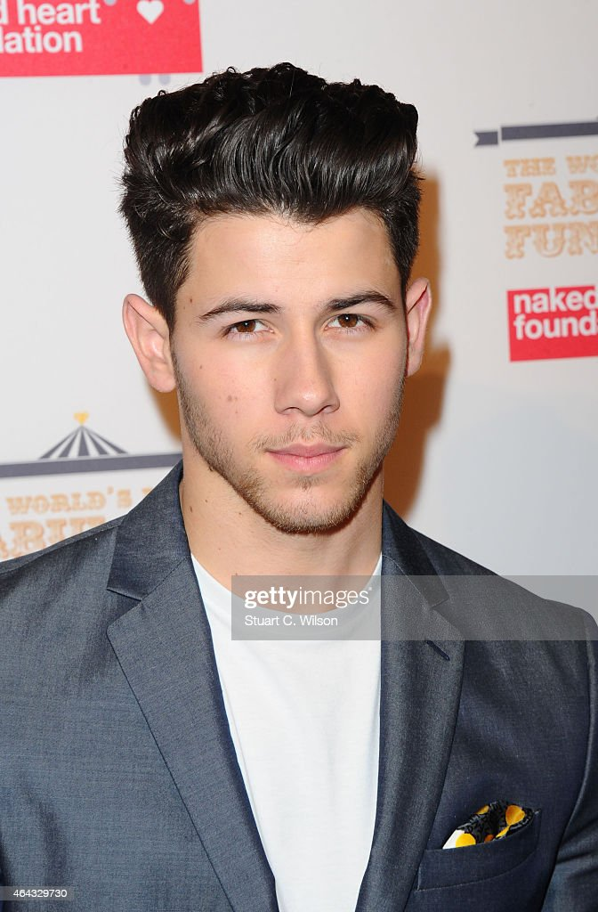 Nick Jonas attends The World's First Fabulous Fund Fair in aid of The Naked Heart Foundation at The Roundhouse on February 24, 2015 in London, England.