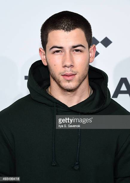 Nick Jonas attends TIDAL X 1020 at Barclays Center on October 20 2015 in the Brooklyn borough of New York City