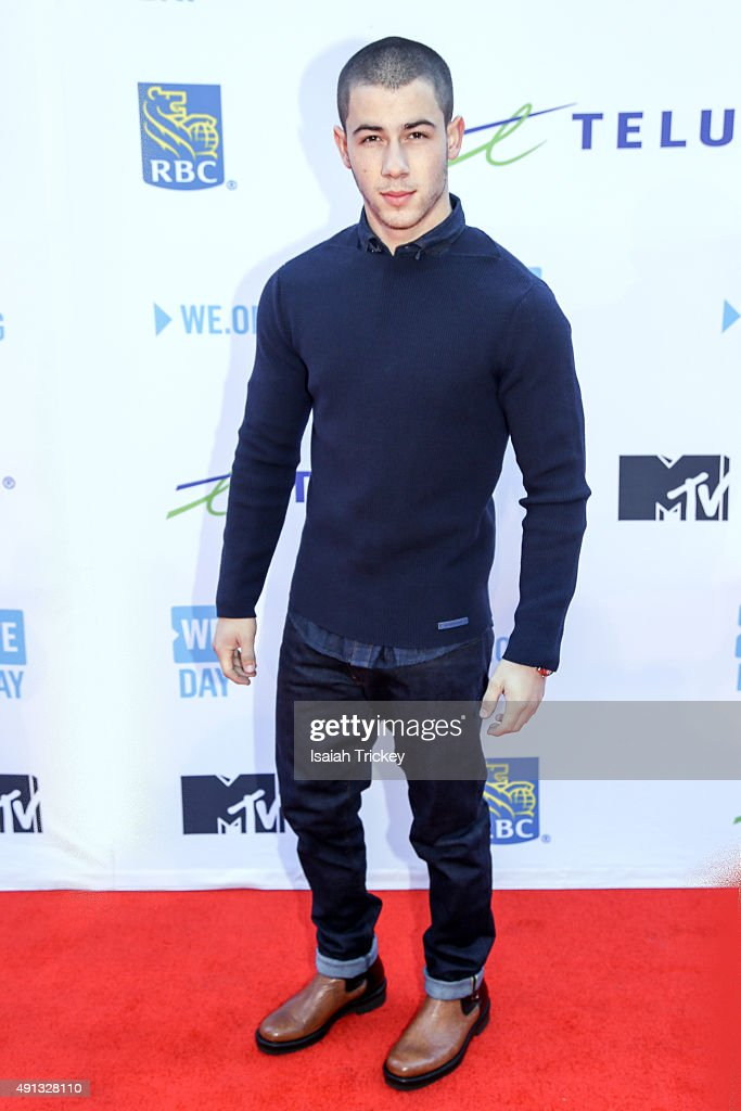 Nick Jonas attends WE Day Toronto at the Air Canada Centre on October 1, 2015 in Toronto, Canada.