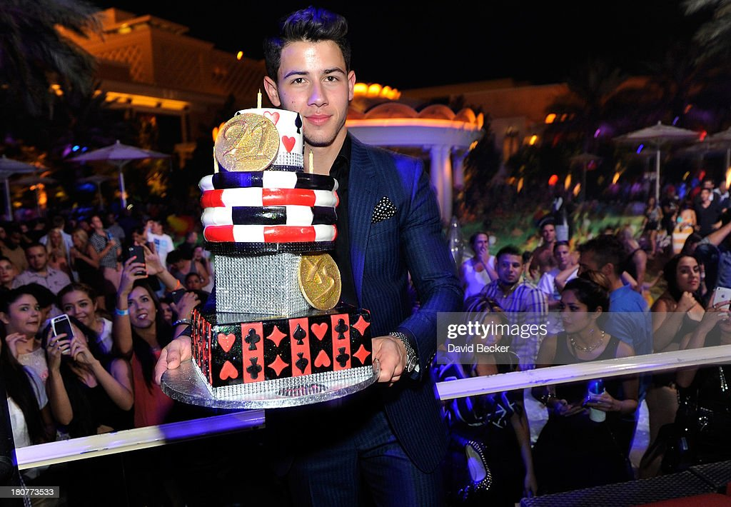Nick Jonas celebrates his 21st birthday at XS The Nightclub at Encore Las Vegas on September 16, 2013 in Las Vegas, Nevada.