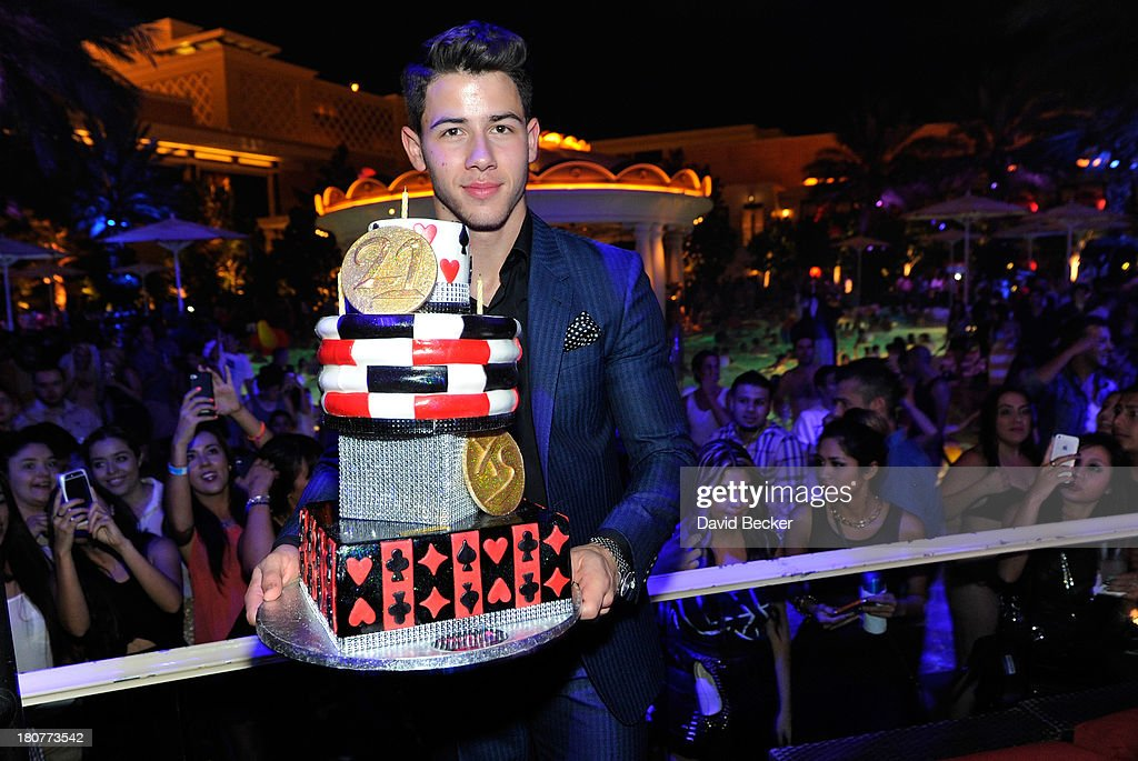 Nick Jonas celebrates his 21st birthday at XS The Nightclub at Encore Las Vegas on September 16, 2013 in Las Vegas, Nevada.