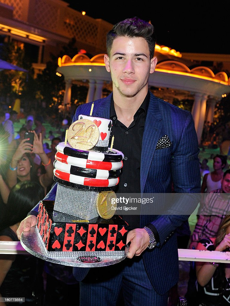 <a gi-track='captionPersonalityLinkClicked' href=/galleries/search?phrase=Nick+Jonas&family=editorial&specificpeople=842713 ng-click='$event.stopPropagation()'>Nick Jonas</a> celebrates his 21st birthday at XS The Nightclub at Encore Las Vegas on September 16, 2013 in Las Vegas, Nevada.
