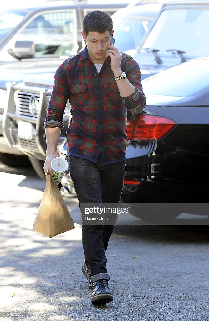 <a gi-track='captionPersonalityLinkClicked' href=/galleries/search?phrase=Nick+Jonas&family=editorial&specificpeople=842713 ng-click='$event.stopPropagation()'>Nick Jonas</a> goes is seen on December 10, 2013 in Los Angeles, California.