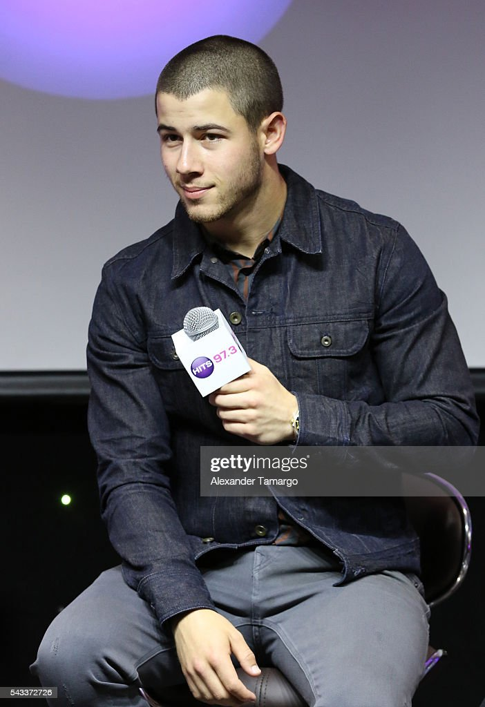 <a gi-track='captionPersonalityLinkClicked' href=/galleries/search?phrase=Nick+Jonas&family=editorial&specificpeople=842713 ng-click='$event.stopPropagation()'>Nick Jonas</a> is seen at the 97.3 Hits Studios on June 27, 2016 in Hollywood, Florida.