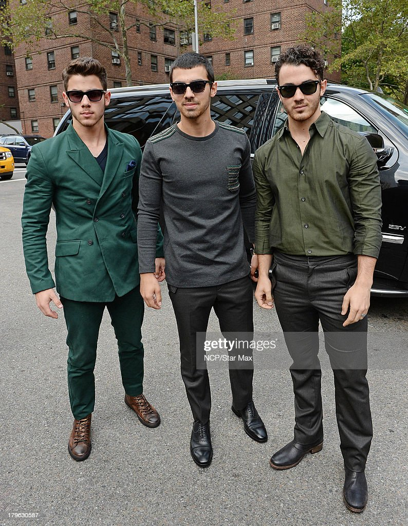 <a gi-track='captionPersonalityLinkClicked' href=/galleries/search?phrase=Nick+Jonas&family=editorial&specificpeople=842713 ng-click='$event.stopPropagation()'>Nick Jonas</a>, <a gi-track='captionPersonalityLinkClicked' href=/galleries/search?phrase=Joe+Jonas&family=editorial&specificpeople=842712 ng-click='$event.stopPropagation()'>Joe Jonas</a> and <a gi-track='captionPersonalityLinkClicked' href=/galleries/search?phrase=Kevin+Jonas&family=editorial&specificpeople=709547 ng-click='$event.stopPropagation()'>Kevin Jonas</a> of Jonas Brothers are seen on September 5, 2013 in New York City.