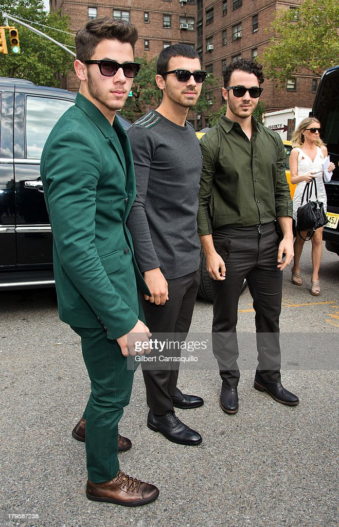 Nick Jonas Joe Jonas and Kevin Jonas of Jonas Brothers attend 2014 MercedesBenz Fashion Week during day 1 on September 5 2013 in New York City