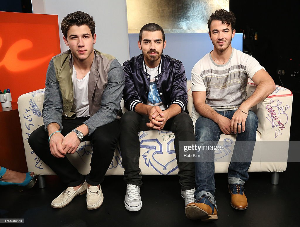 <a gi-track='captionPersonalityLinkClicked' href=/galleries/search?phrase=Nick+Jonas&family=editorial&specificpeople=842713 ng-click='$event.stopPropagation()'>Nick Jonas</a>, <a gi-track='captionPersonalityLinkClicked' href=/galleries/search?phrase=Joe+Jonas&family=editorial&specificpeople=842712 ng-click='$event.stopPropagation()'>Joe Jonas</a> and <a gi-track='captionPersonalityLinkClicked' href=/galleries/search?phrase=Kevin+Jonas&family=editorial&specificpeople=709547 ng-click='$event.stopPropagation()'>Kevin Jonas</a> of the Jonas Brothers visit Music Choice's U&A at Music Choice on June 20, 2013 in New York City.