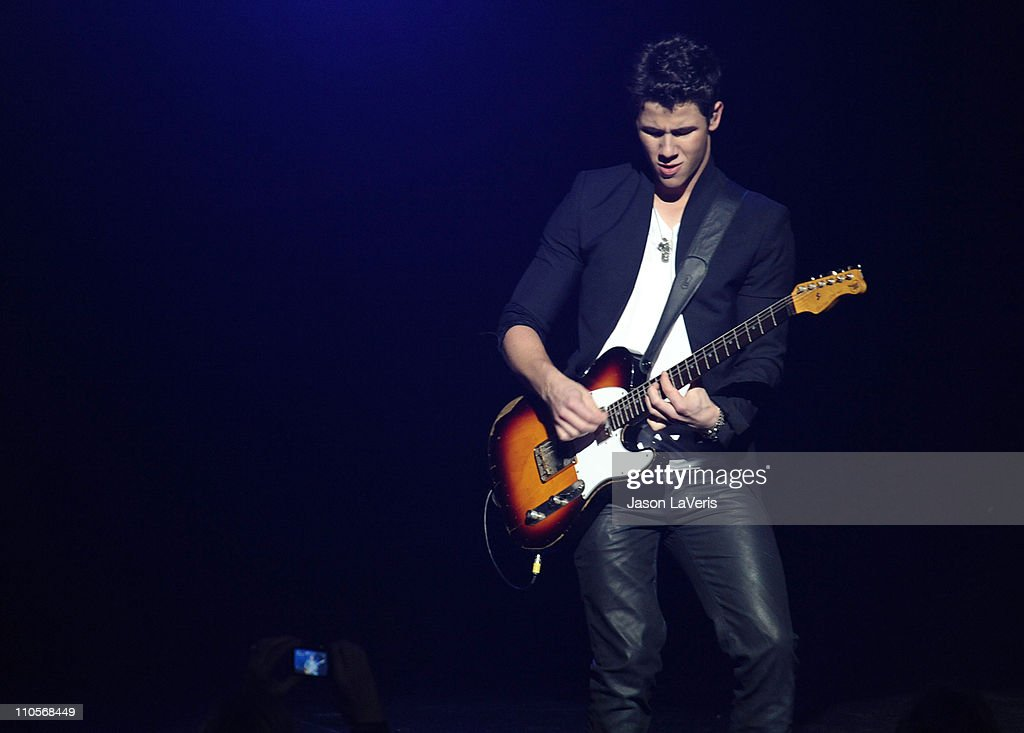 Nick Jonas of The Jonas Brothers performs at the 2011 Concert For Hope at Gibson Amphitheatre on March 20, 2011 in Universal City, California.