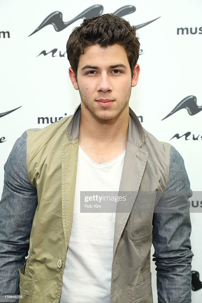 Nick Jonas of the Jonas Brothers visits Music Choice's U&A at Music Choice on June 20, 2013 in New York City.