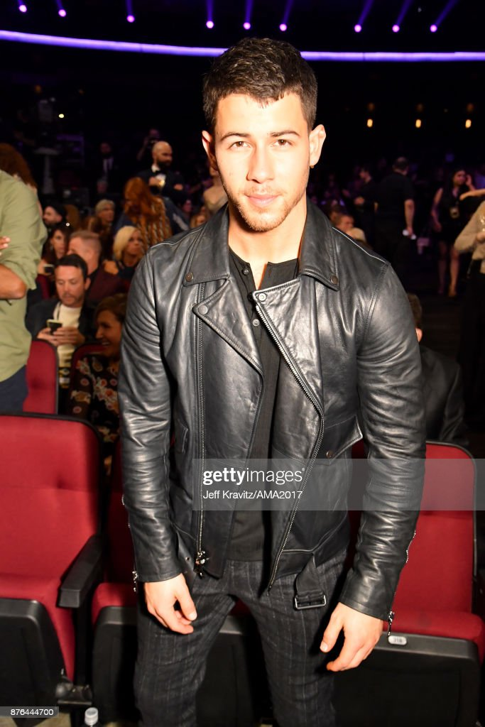Nick Jonas onstage during the 2017 American Music Awards at Microsoft Theater on November 19, 2017 in Los Angeles, California.