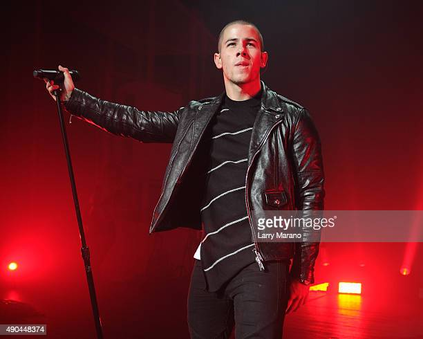 Nick Jonas performs at the Fillmore on September 27 2015 in Miami Beach Florida