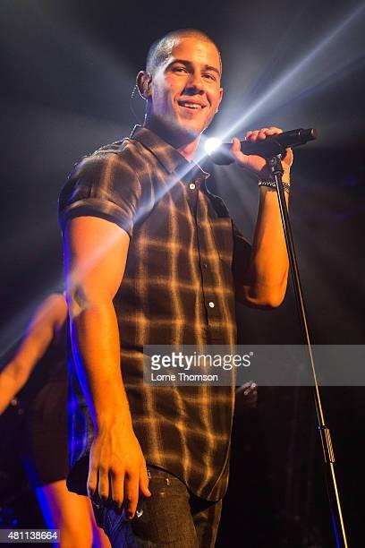Nick Jonas performs at the O2 Academy Islington on July 17 2015 in London England United Kingdom