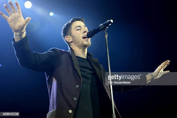 Nick Jonas performs during Now 997's Triple Ho Show at SAP Center on December 3 2014 in San Jose California