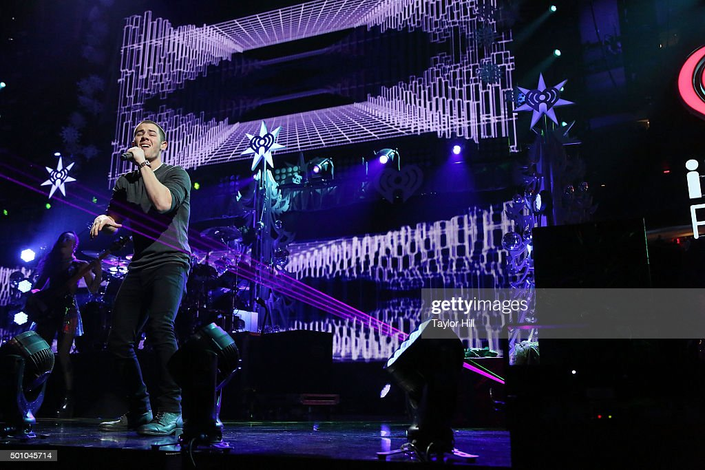 Nick Jonas performs during the 2015 Z100 Jingle Ball at Madison Square Garden on December 11, 2015 in New York City.