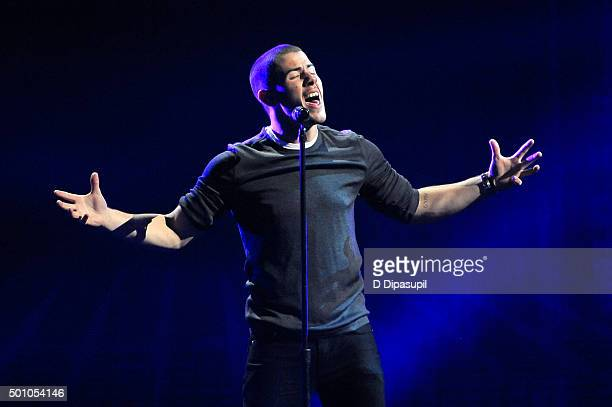 Nick Jonas performs onstage during Z100's iHeartRadio Jingle Ball 2015 at Madison Square Garden on December 11 2015 in New York City
