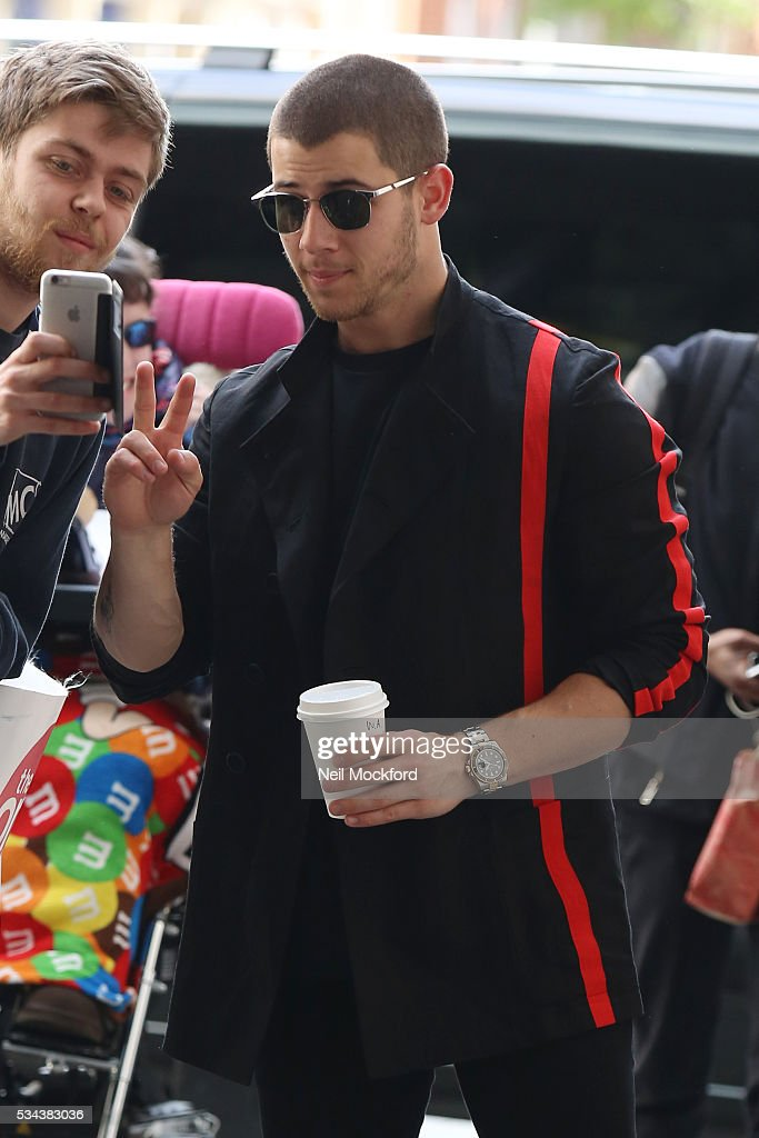 <a gi-track='captionPersonalityLinkClicked' href=/galleries/search?phrase=Nick+Jonas&family=editorial&specificpeople=842713 ng-click='$event.stopPropagation()'>Nick Jonas</a> seen at BBC Radio One on May 26, 2016 in London, England.