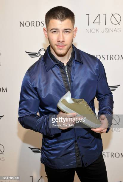 Nick Jonas unveils 1410 Collection with Creative Recreation at Nordstrom at the Grove on February 11 2017 in Los Angeles California