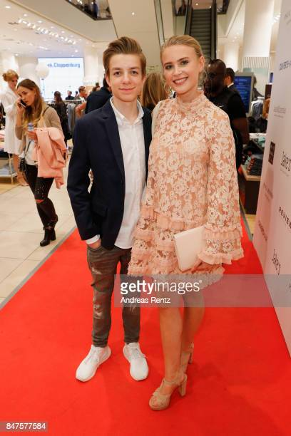 Nick Julius Schuck and Jeanne Goursaud attend the PreOpening PC Weltstadthaus Koeln on September 15 2017 in Cologne Germany