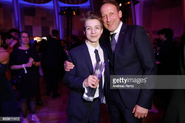 Nick Julius Schuck and Wotan Wilke Moehring attend the German Television Award at Rheinterrasse on February 2 2017 in Duesseldorf Germany