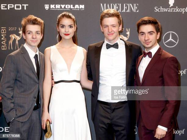 Nick Julius Schuck Luise Befort Timur Bartels and Ivo Kortlang arrive at the Bambi Awards 2017 at Stage Theater on November 16 2017 in Berlin Germany