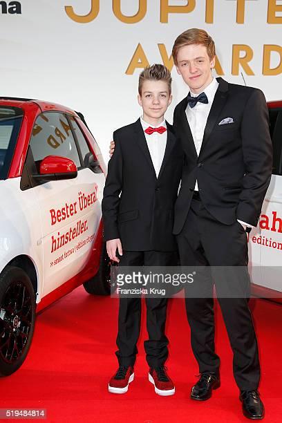 Nick Julius Schuck Timur Bartels and smart attend the Jupiter Award 2016 on April 06 2016 in Berlin Germany