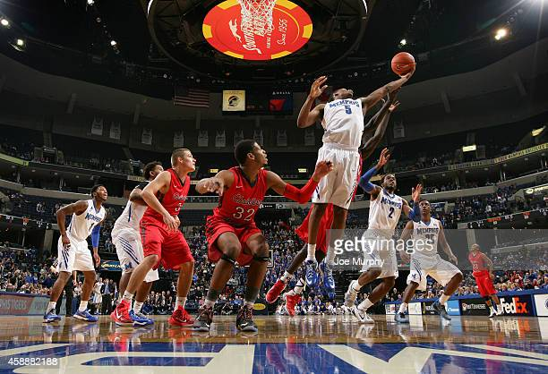 Nick King of the Memphis Tigers grabs a rebound against the Christian Brothers Buccaneers during an exhibition game on November 12 2014 at FedExForum...