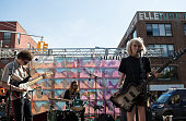 Nick Kivlen Jacob Faber and Julia Cumming from Sunflower Bean performs at Northside Festival Day 3 on June 13 2015 in the Brooklyn borough of New...