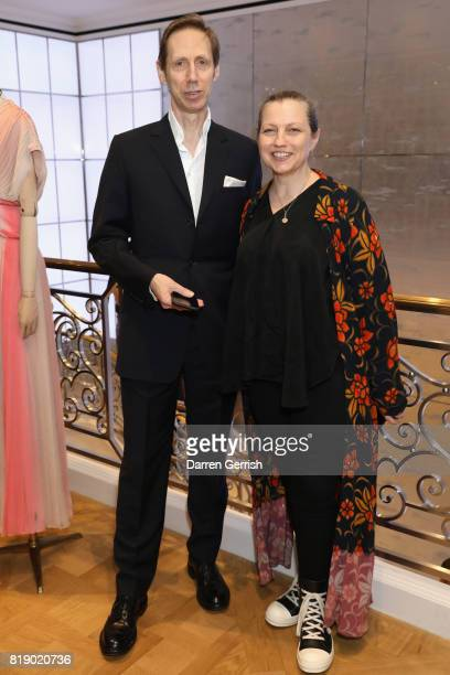 Nick Knight and Charlotte Knight attend the Dior cocktail party to celebrate the launch of Dior Catwalk by Alexander Fury on July 19 2017 in London...