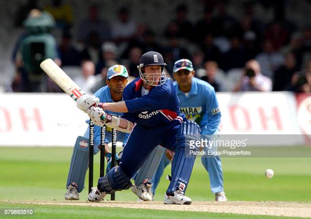 Nick Knight batting for England during the NatWest Series One Day International between England and India at Lord's Cricket Ground London 29th June...