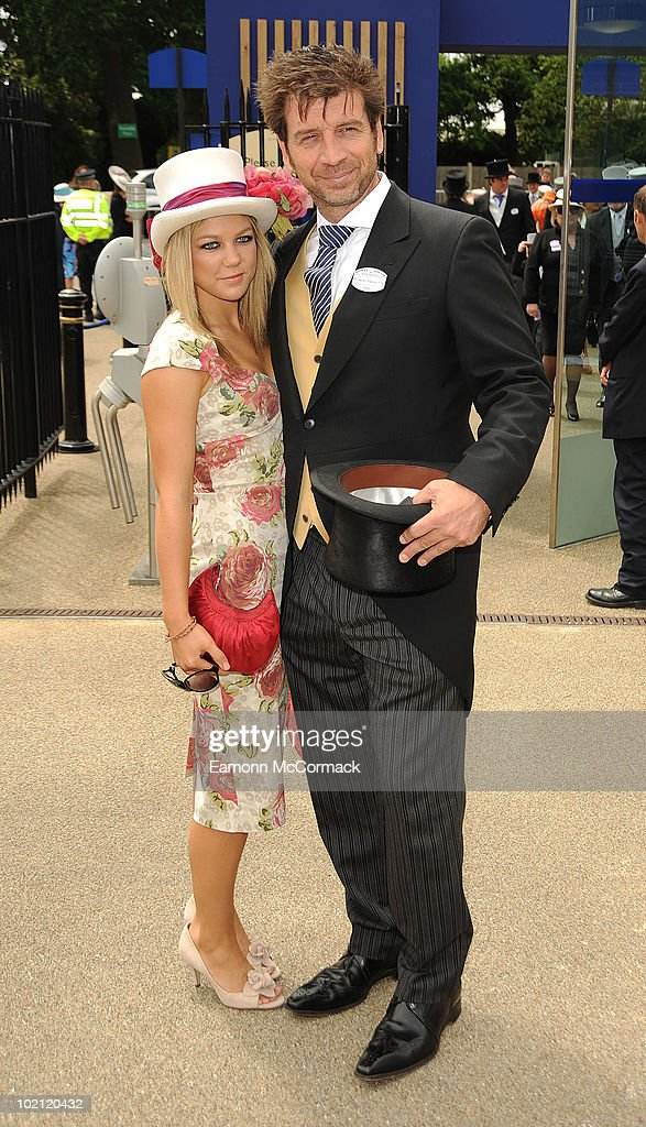 Nick Knowles and Guest attend Royal Ascot at Ascot Racecourse on June 15, 2010 in Ascot, England.