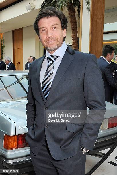 Nick Knowles attends a VIP dinner hosted by Maserati to unveil the new 'Quattroporte' at The Hurlingham Club on April 17 2013 in London England