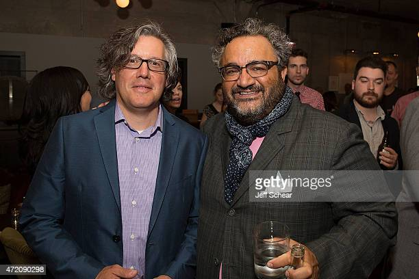 Nick Kokonas and Michael Nahabedian attend the 2015 James Beard Foundation Awards Welcome Reception Hosted At Soho House Chicago In Partnership With...